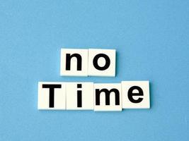 nenhum conceito de tempo, alfabetos de bloco foto