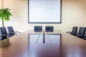 sala de reuniões de negócios no escritório foto