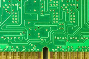 detalhe de uma placa de circuito impresso foto