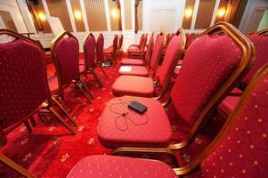 sala de conferências do hotel de luxo foto