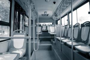 assento de ônibus da cidade foto