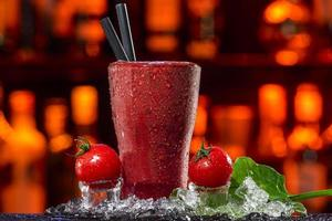 smoothie de tomate foto