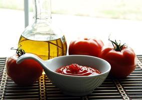 molho de tomate. foto