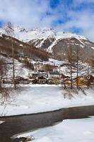 montanhas estação de esqui solden áustria
