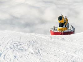 fabricante de neve foto