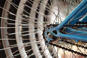 detalhe de bicicleta close-up.
