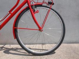 detalhe da bicicleta foto