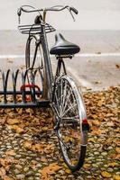 bicicleta vintage em ravena durante o outono foto
