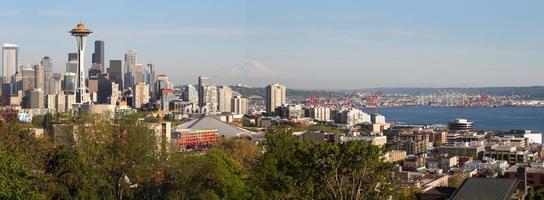 panorama do horizonte de seattle foto