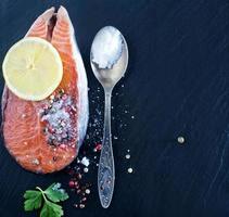 Filé de salmão foto