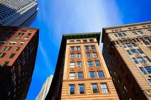 boston em massachusetts downtown buidings foto