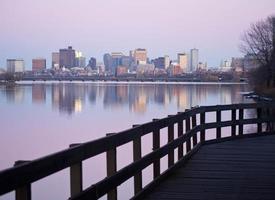 pôr do sol de boston foto