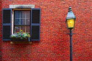 bolota rua baliza colina de paralelepípedos boston foto