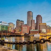 porto de boston e distrito financeiro foto