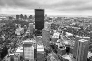 Vista aérea de Boston, em Massachusetts, EUA.