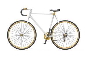 cor fixa bicicleta cidade mistura fundo isolado foto