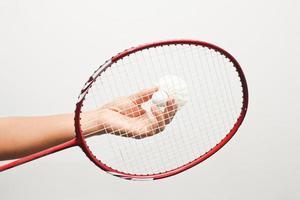 esporte de badminton. foto