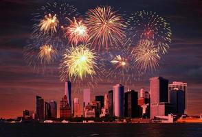 fogos de artifício sobre nyc foto