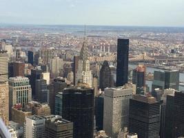 vista aerea de manhatan, nova york foto