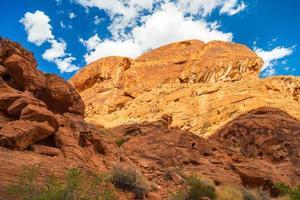 paisagem da rocha vermelha, parque estadual vale do fogo, nevada, eua foto