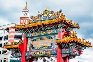 portão do dragão, chinatown bangkok tailândia foto