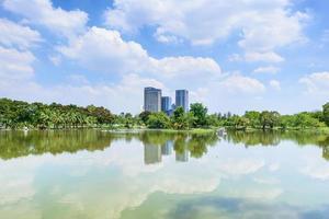 vista cidade de banguecoque scape lagoa foto