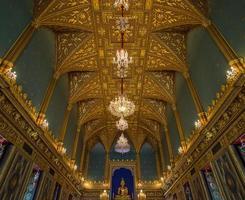 salão do castelo, o grande palácio, bangkok, tailândia foto