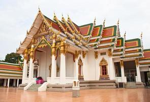 templo de mármore, bangkok, tailândia foto