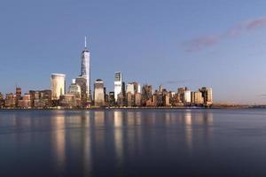 NYC - pôr do sol dourado foto