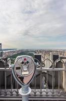 Central Park em Nova York e telescópio foto