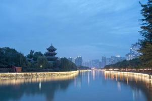 noite em wangjianglou chengdu, china foto