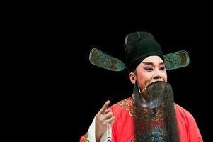 homem de ópera da china em vermelho