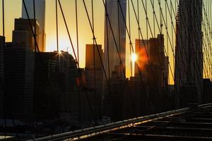 Nova Iorque ao pôr do sol. foto