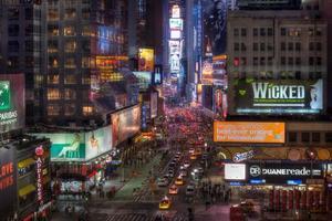 cidade de nova york manhattan times square à noite hdr foto