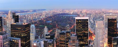panorama do central park de Nova York foto