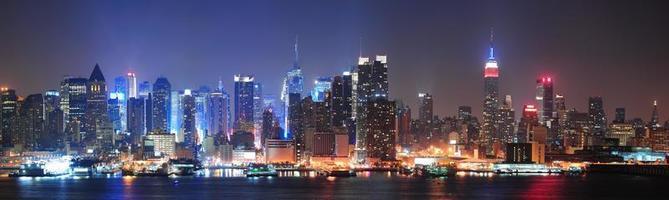 cidade de nova york manhattan midtown skyline foto