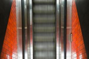 escada rolante da vista superior foto