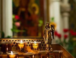 velas da catedral foto