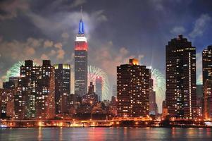 cidade de nova york manhattan midtown ao entardecer foto
