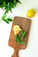 hortelã e limão foto