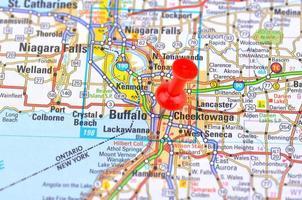 búfalo e mapa foto