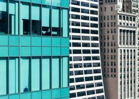 detalhe do edifício de escritórios bryant park, manhattan, nova iorque foto