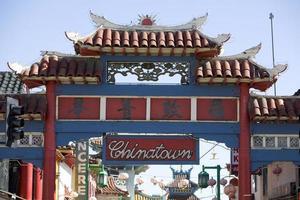portão de chinatown foto