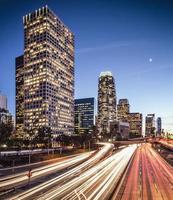 paisagem urbana de los angeles, califórnia foto
