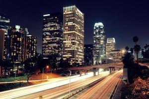 Los Angeles à noite foto