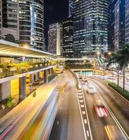corrida do tráfego de hong kong foto
