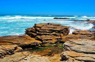 vista da praia selvagem foto