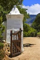 entrada para mansão groot constantia foto