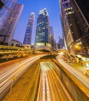 o marco do distrito central de hong kong. foto