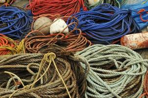 cordas e bóias foto